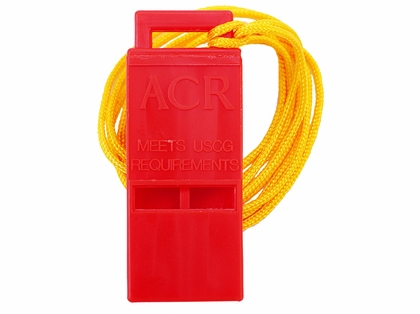 "ACR 2228 WW-3 Survival Res-Q Whistle with 18"" Lanyard"