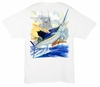Aftco Guy Harvey MTH6283 Sailfish Boat Men's SS Tee - White