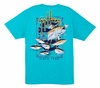 Aftco Guy Harvey MTH6797 Old School Men's SS Tee - Turquoise