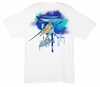 Aftco Guy Harvey MTH6799 Graffiti Men's SS Tee - White