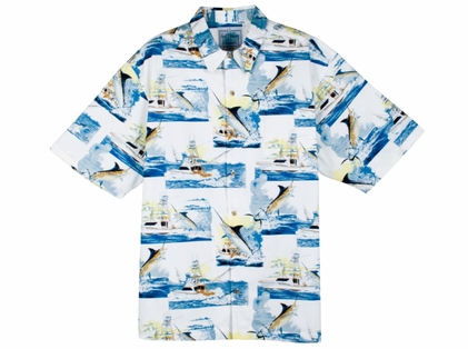 Aftco Guy Harvey Sportfishing Men's SS Woven
