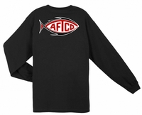 Aftco MT2067 Football Logo Long Sleeve Tee