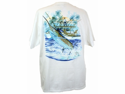 Aftco MTH1591 Marlin and Boat Tee Shirt