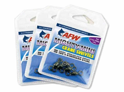 AFW FWSS12B/50 100Lb. 50pk Stainless Steel Crane Swivels Black