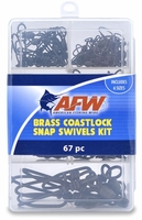 AFW TKB00005 Brass Coastlock Snap Swivels Kit, 67 Pieces