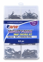 AFW TKB00009 Mighty Mini Stainless Steel Snap Swivels Kit, 62 Pieces