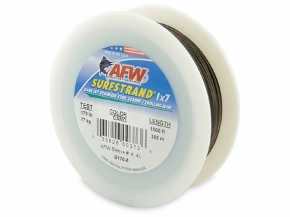 American Fishing Wire 1X7 Stainless Steel Leader Wire B170-8