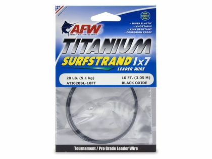 American Fishing Wire ATI020BL Titanium Surfstrand Leader Wire