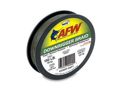 American Fishing Wire RB150GR-450FT Downrigger Braid