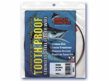 American Fishing Wire S15C-.25 15 Toothproof Leader Wire Brown