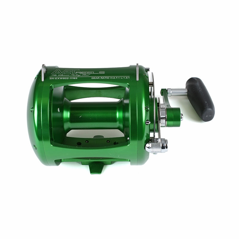 avet exw 80/2 two-speed lever drag big game reel green, Reel Combo
