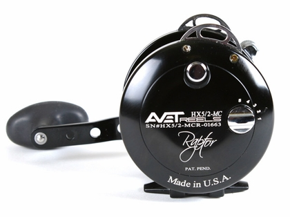 Avet HX 5/2 MC Raptor Two-Speed Lever Drag Casting Reel Black