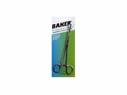 "Baker Tools BFF8 8"" Curved Forceps"