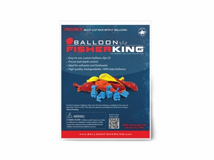 Balloon Fisher King Pro Pack - 5 Balloon Clips, 10 9in Balloons