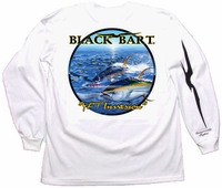 Bart's Yellowfin Tuna Long Sleeve T-Shirts White XX-Large