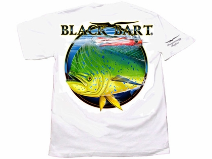 Black Bart Bull Dolphin Short Sleeve T-Shirts