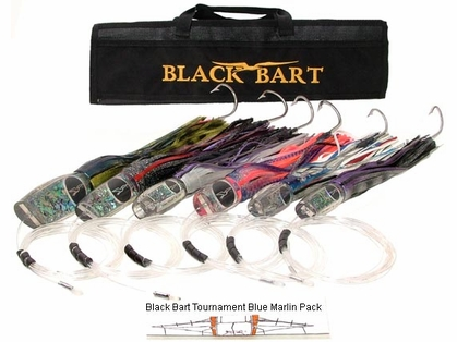 Black Bart Lures Tournament Blue Marlin Rigged Trolling Pack