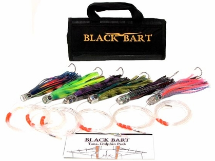 Black Bart Lures Tuna/Dolphin Rigged Trolling Pack Double Hooks