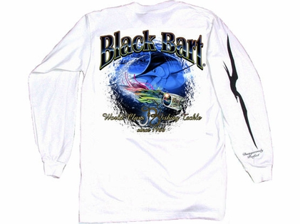 Black Bart Marlin Lure Long Sleeve T-Shirt White