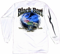 Black Bart Marlin Lure Long Sleeve T-Shirt White XX-Large