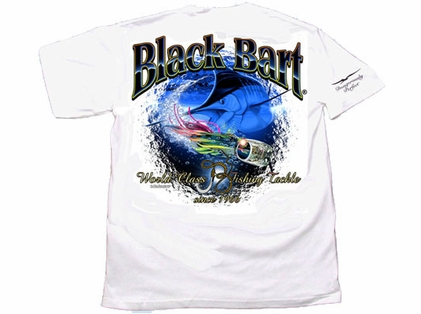 Black Bart Marlin Lure Short Sleeve T-Shirt White XX-Large