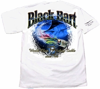 Black Bart Marlin Lure Short Sleeve T-Shirt White