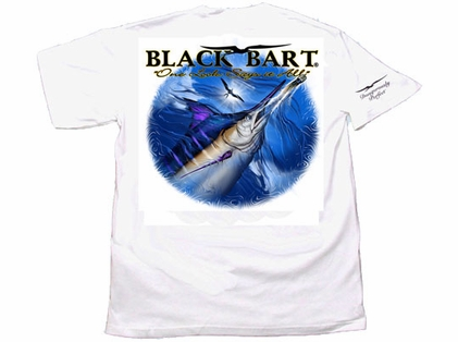 Black Bart ''One Look Says It All'' Short Sleeve T-Shirt White