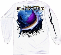 Black Bart Sailfish Long Sleeve T-Shirts White XX-Large