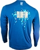 Bluefin USA Billfish Camo Polycotton Long Sleeve Tee Navy