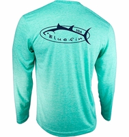 Bluefin USA Logo Design Tech Tee Aqua