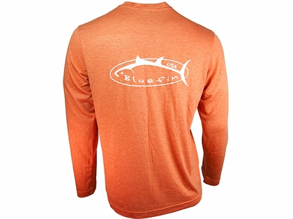 Bluefin USA Logo Design Tech Tee Coral