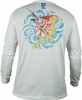 Bluefin USA Marlin Medallion Polycotton Long Sleeve Tees
