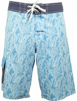 Bluefin USA Reef Light Blue 4-Way Boardshorts