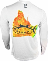 Bluefin USA Solar Sailfish Polycotton Long Sleeve Tee White