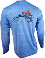 Bluefin USA Tribal Tuna Tech Tee Light Blue
