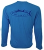 Bluefin USA Navy Logo Technical Long Sleeve Shirts
