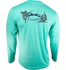 Bluefin USA Two Billfish Tech Tee Aqua