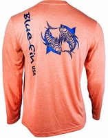 Bluefin USA Two Tuna Tech Tee Coral