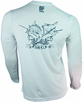 Bluefin USA Vintage Polycotton Long Sleeve Tee White