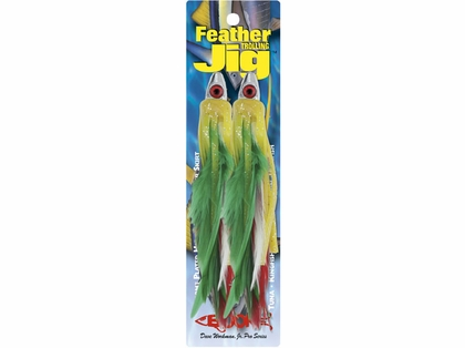 Boone Feather Trolling Jig 1/4oz 4in 2pk