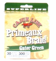 Cajun Primeaux Braid 300yds 30lb Gator Green