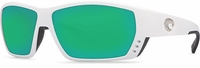 Costa Del Mar Tuna Alley Sunglasses 400G White Frame
