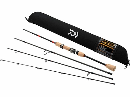 Daiwa PSO564ULFS-TR Presso Ultralight 4pc Pack Spinning Rod