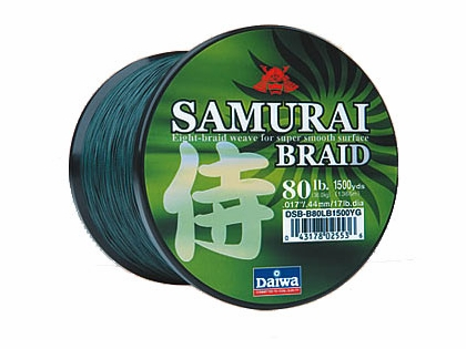 Daiwa Samurai Braided Line 1500yds Green