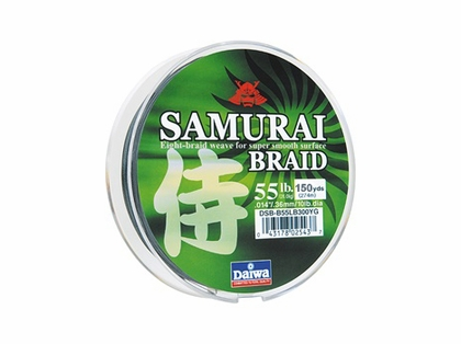 Daiwa Samurai Braided Line 150yds Green