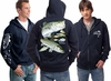 David Dunleavy DD4000-8023 Striped Bass Zip Hoodie Navy