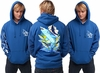 David Dunleavy DD4000PO-8022 Mako Shark Pullover Hoodie Royal Blue