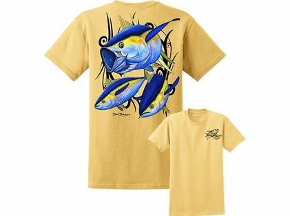 David Dunleavy DDM8005 Yellowfin Tuna Tee Yellow