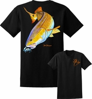 David Dunleavy DDM8010 Redfish Tee Black