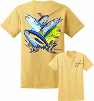 David Dunleavy DDM8013 NE Collage Tee Yellow